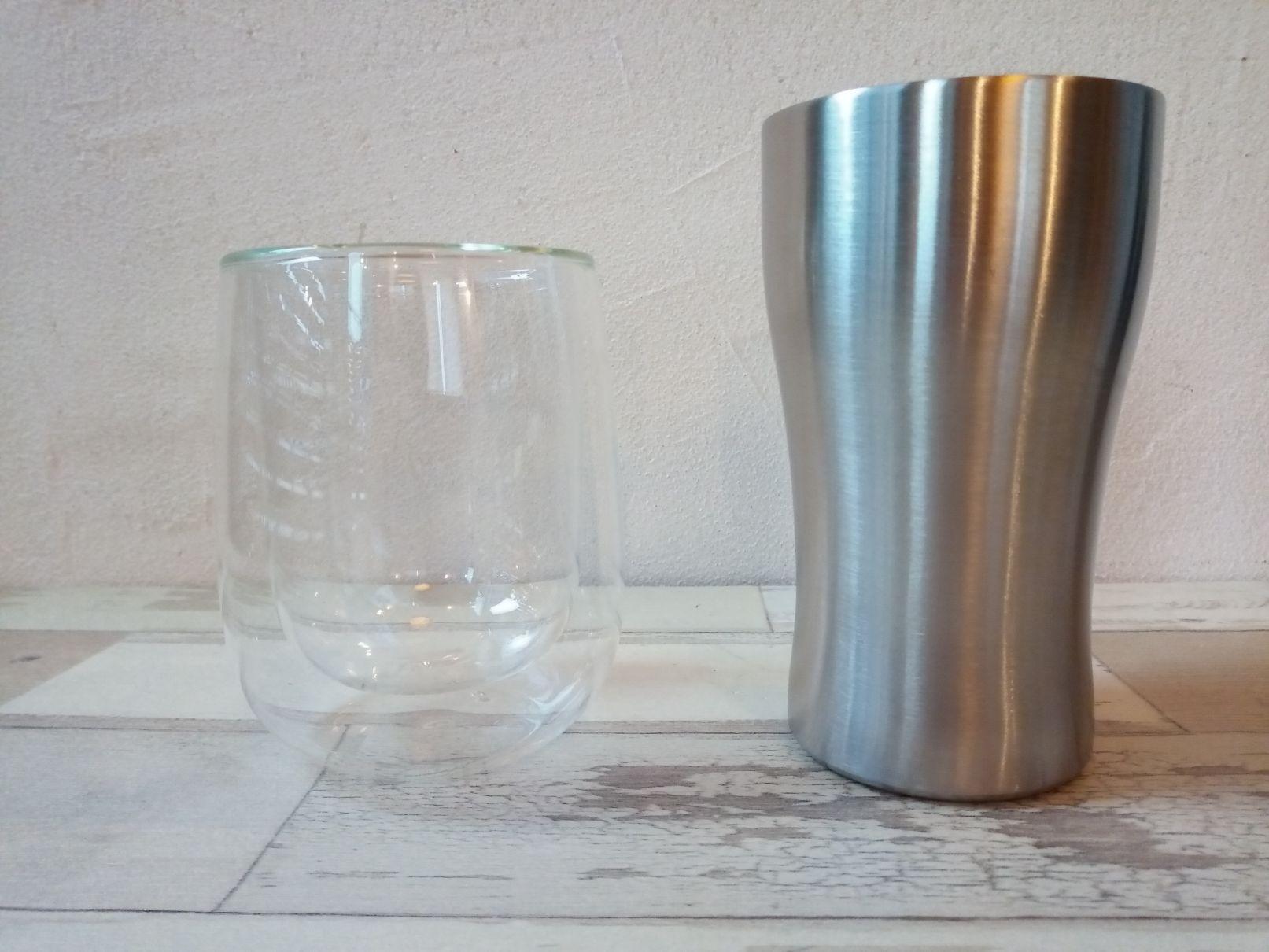 ダイソー ダブルウォールグラス ステンレス真空断熱タンブラー